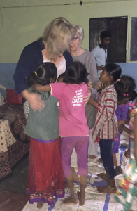 Hugging Orphans Who Don't Have A Mum